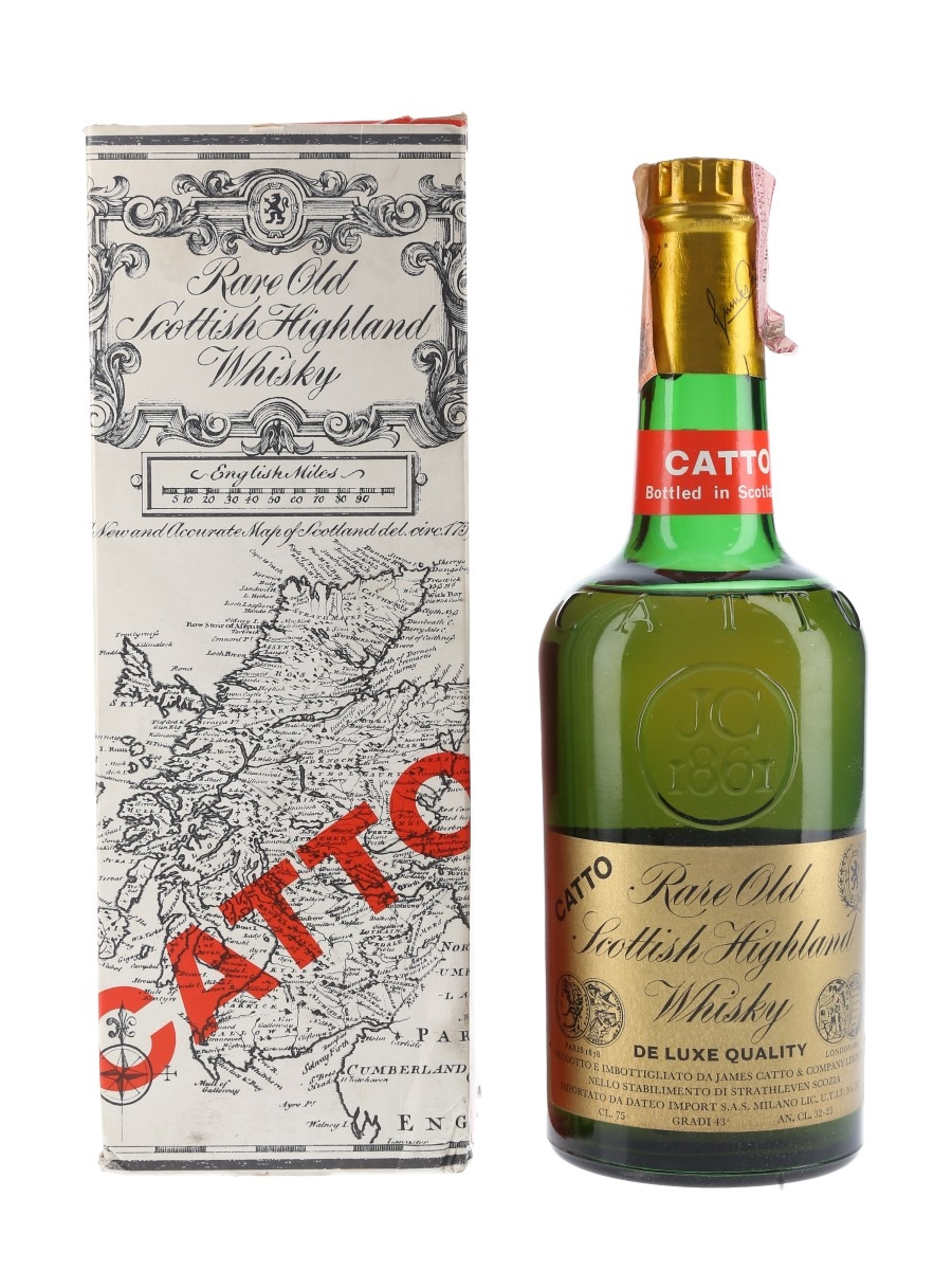 Catto Rare Old Highland Whisky Bottled 1970s - Dateo Import 75cl / 43%