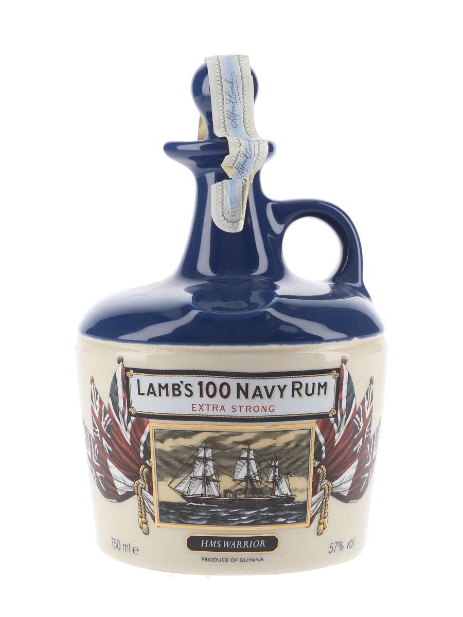 Lamb's 100 Navy Rum HMS Warrior Bottled 1980s - Ceramic Decanter 75cl / 57%