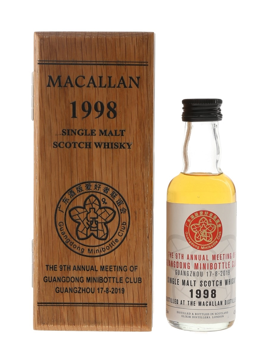Macallan 1998 Bottled 2019 - 9th Annual Meeting Of Guangdong Minibottle Club 5cl / 43%