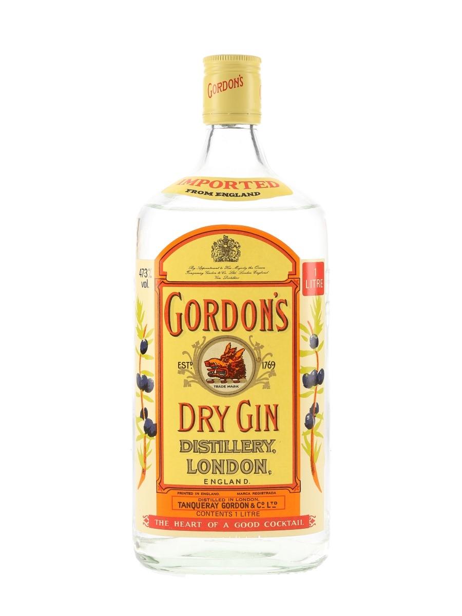 Gordon's Special London Dry Gin Bottled 1980s 100cl / 47.3%
