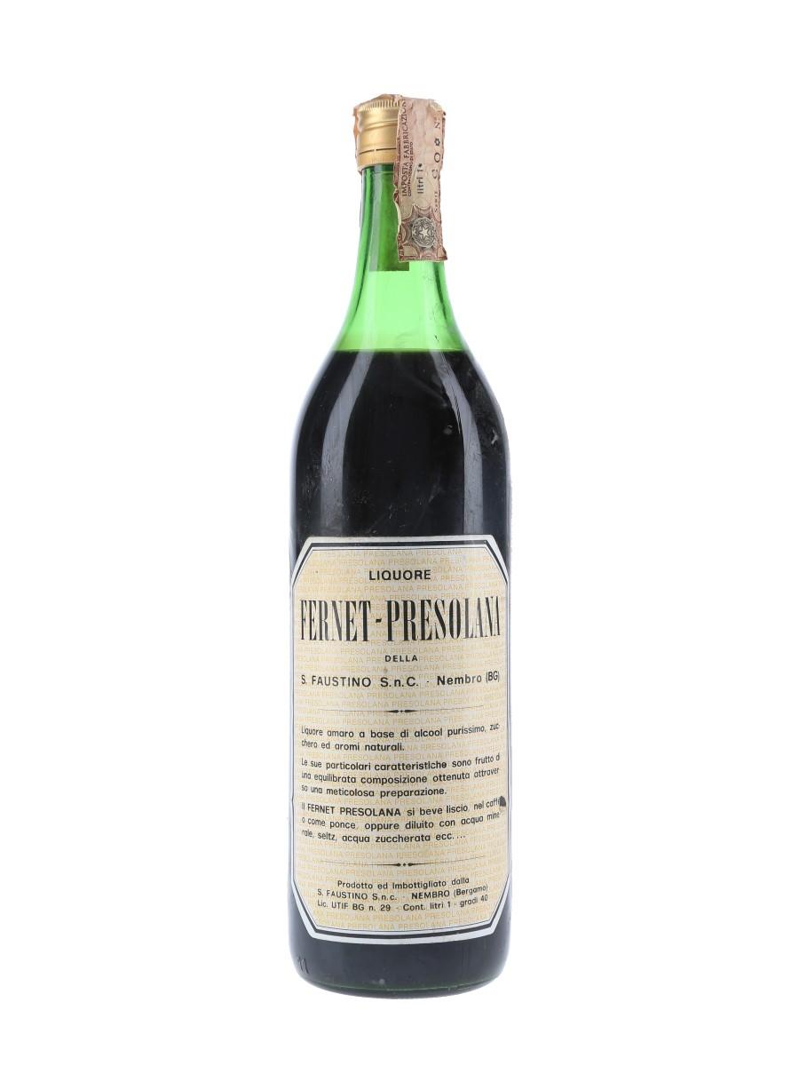 Fernet Presolana Bottled 1970s 100cl / 40%