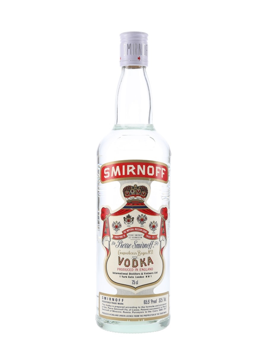 Smirnoff Red Label Bottled 1980s 75cl / 37.5%