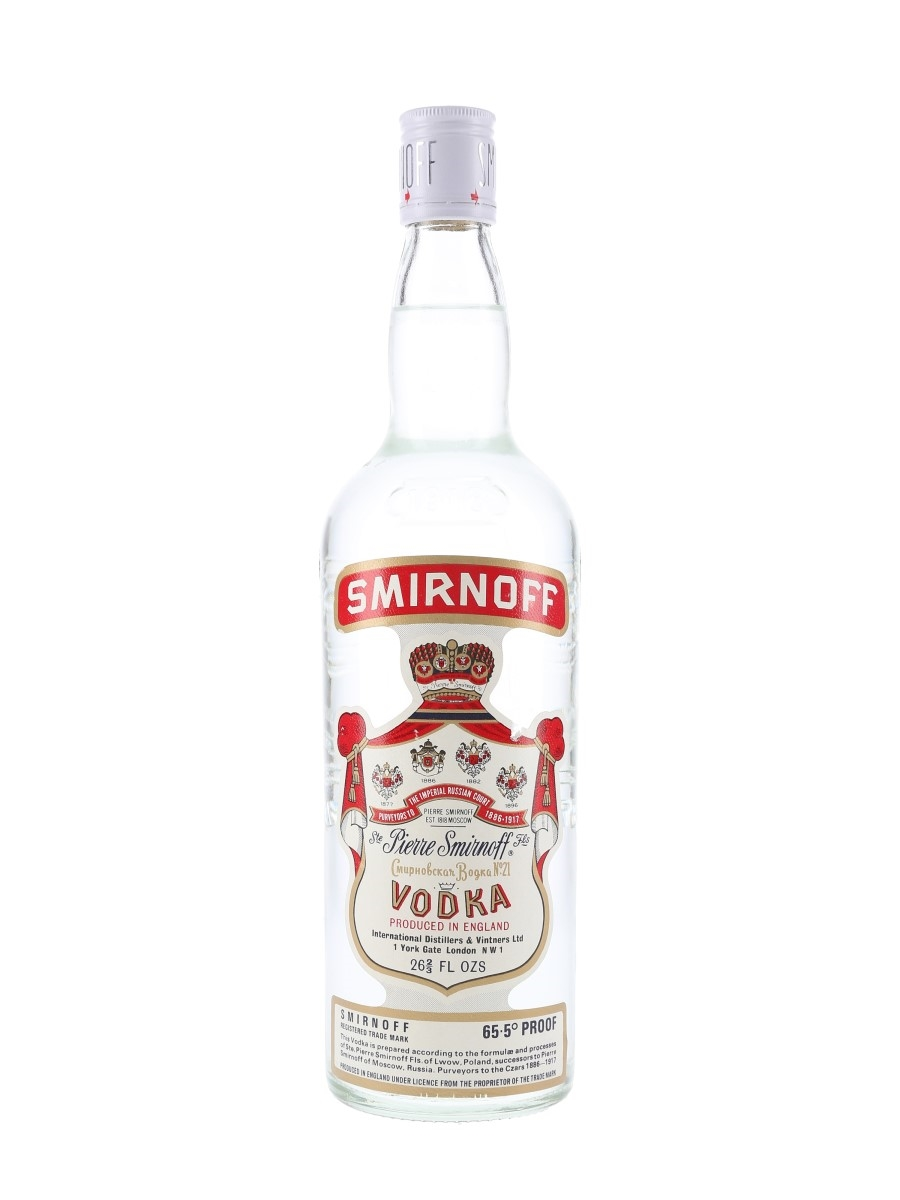 Smirnoff Red Label Bottled 1970s 75.7cl / 37.5%