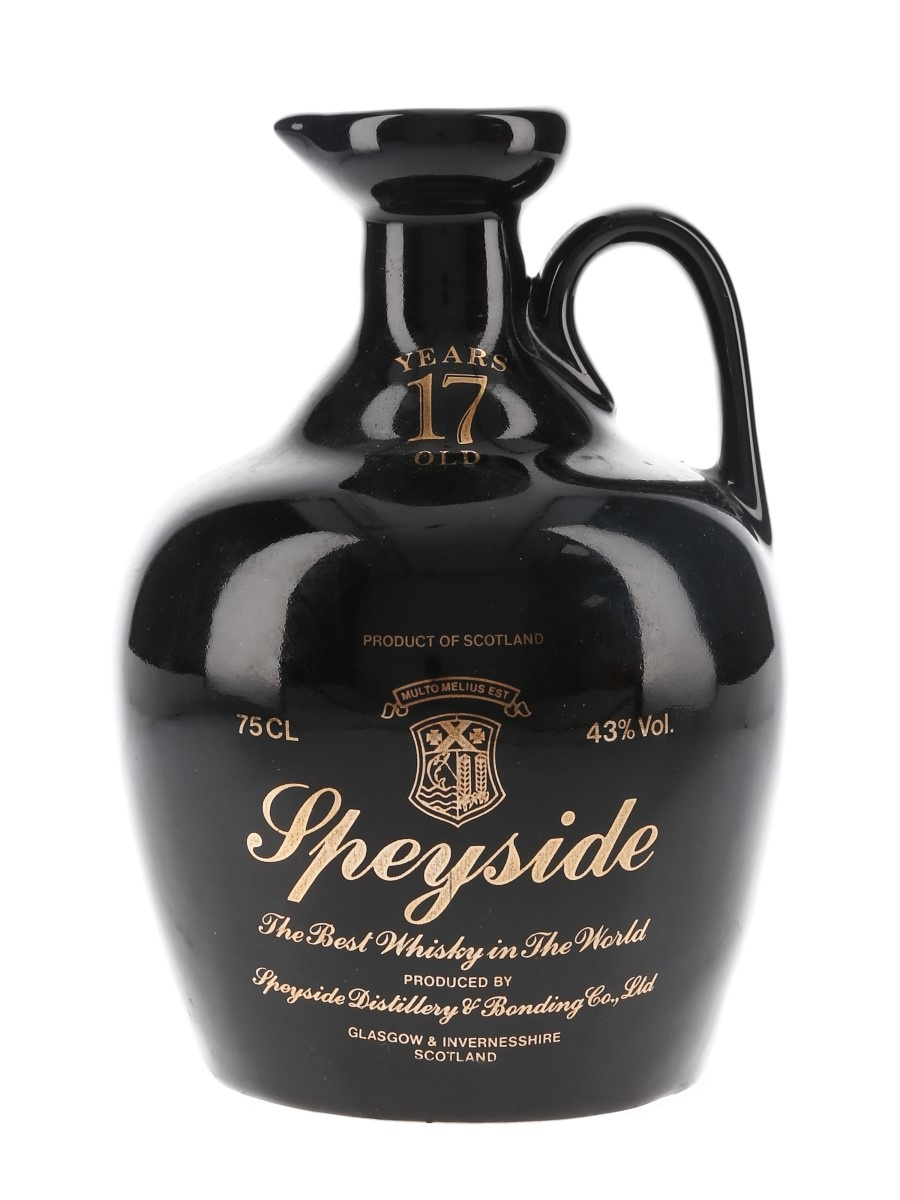 Speyside 17 Year Old Ceramic Decanter Bottled 1980s 75cl / 43%