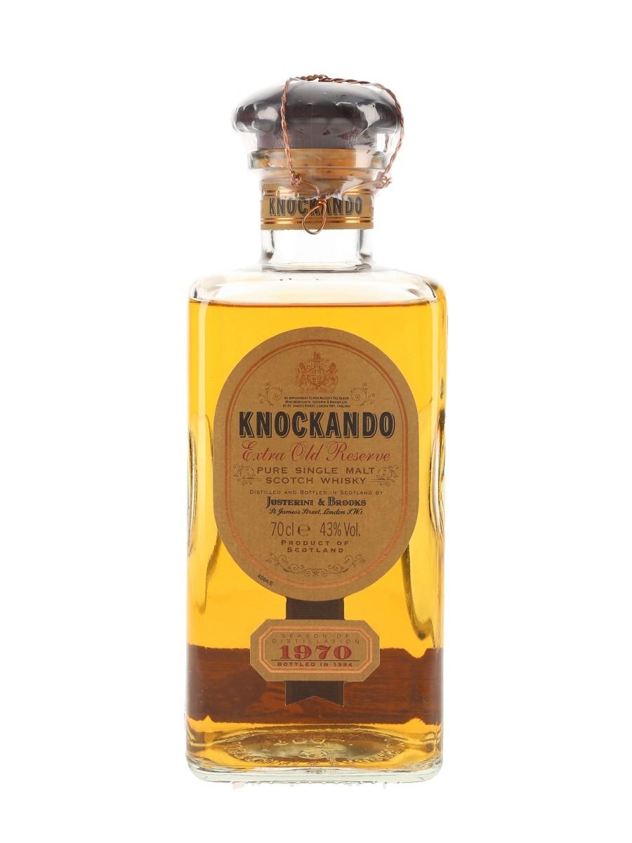 Knockando 1970 Extra Old Reserve Bottled 1994 70cl / 43%