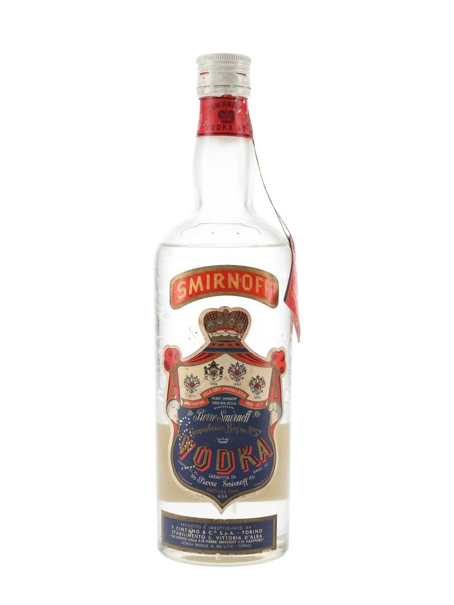 Smirnoff Vodka Bottled 1970s 75cl / 50%