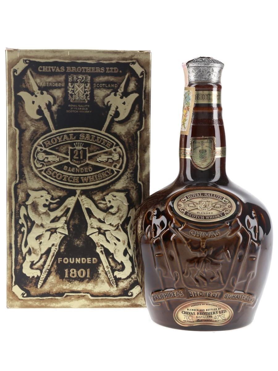 Royal Salute 21 Year Old Brown Wade Ceramic Decanter 70cl / 40%
