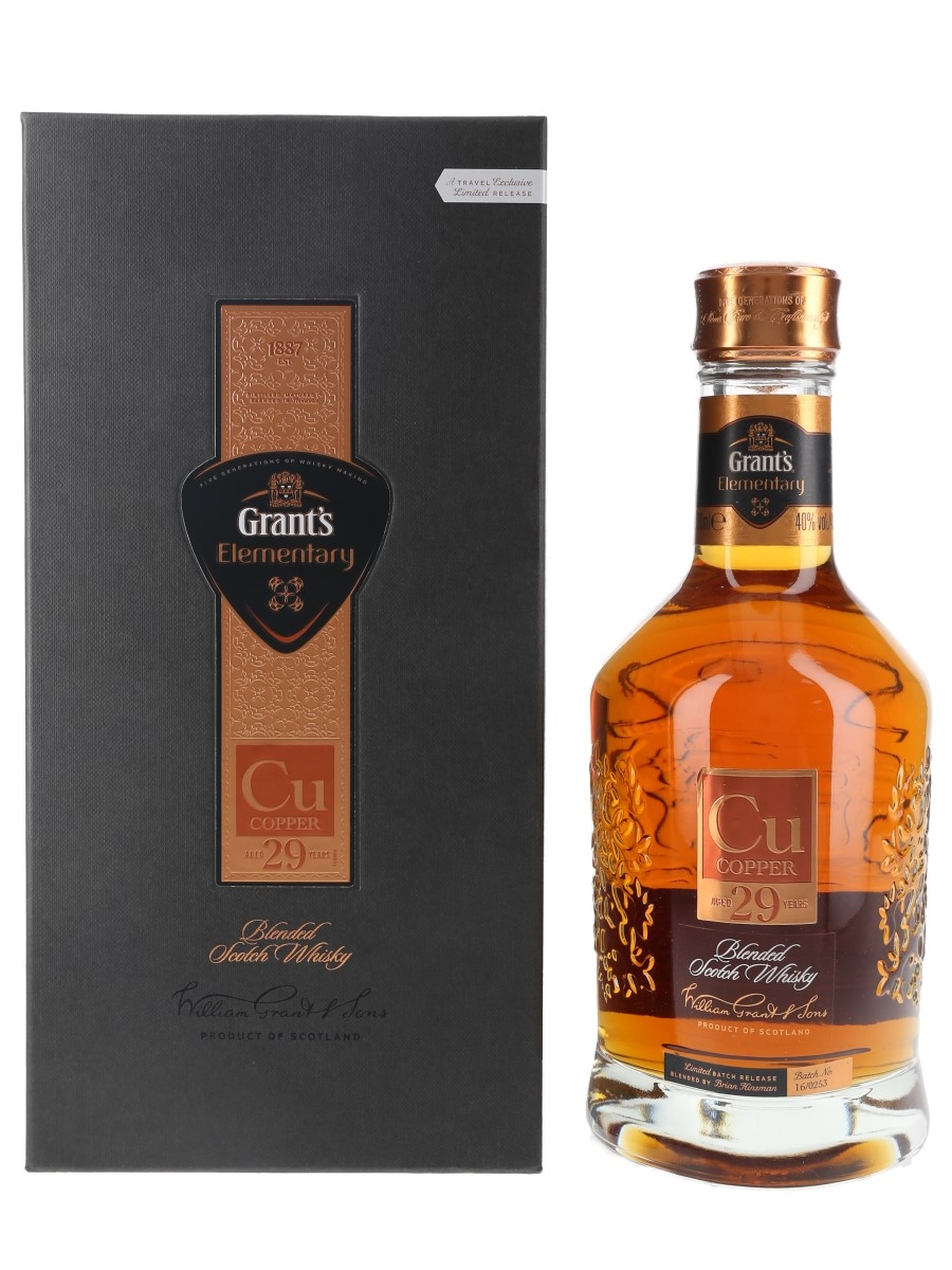 Grant's Elementary Copper 29 Year Old  70cl / 40%