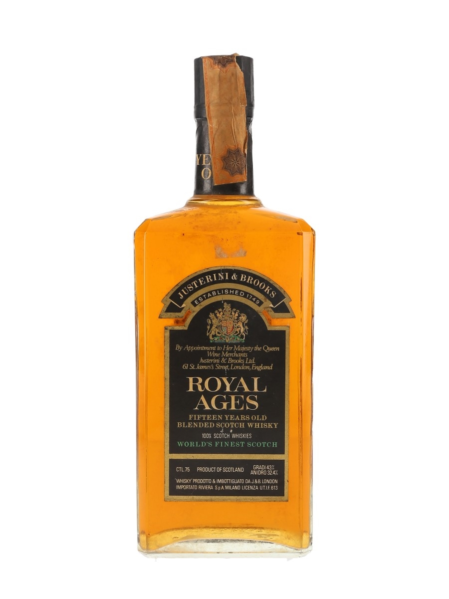 Royal Ages 15 Year Old Bottled 1970s - J & B 75cl / 43%