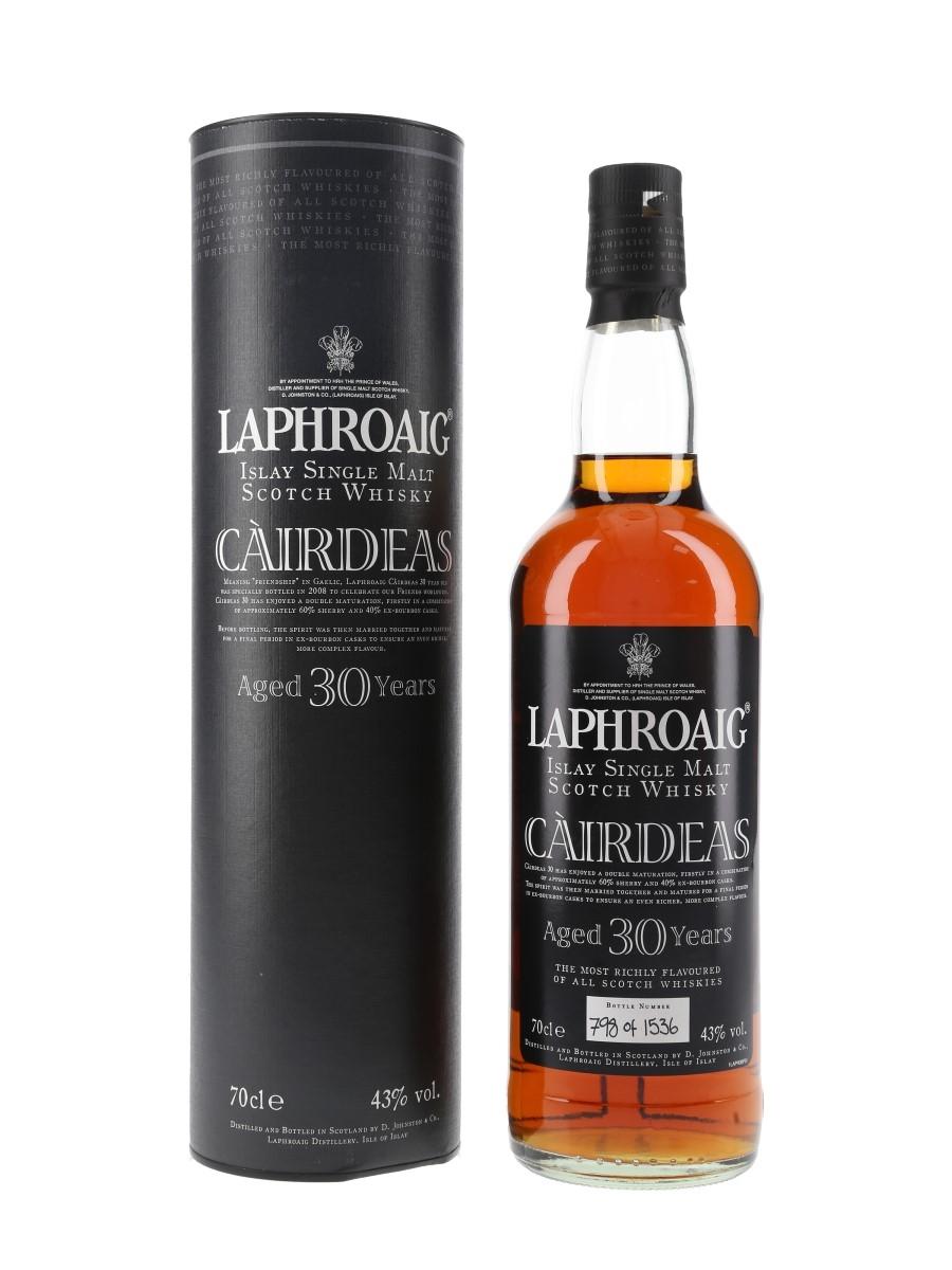 Laphroaig Cairdeas 30 Year Old Bottled 2008 70cl / 43%