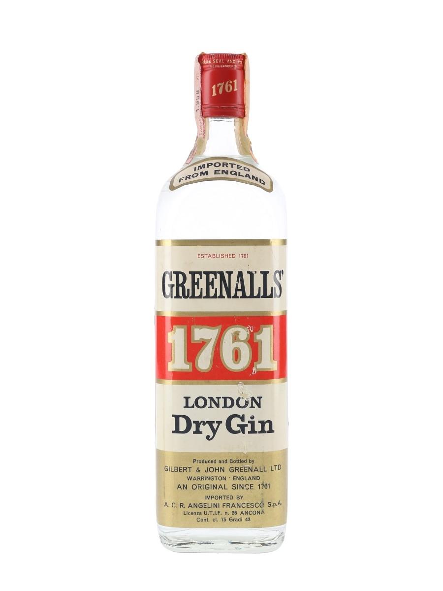 Greenall's 1761 Bottled 1960s - Angelini 75cl / 43%