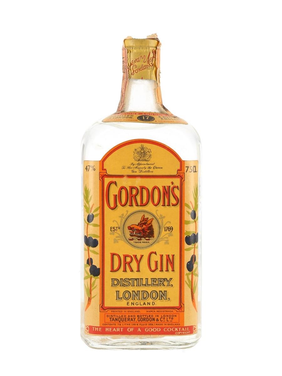 Gordon's Dry Gin Spring Cap Bottled 1950s - Paissa 75cl / 47%