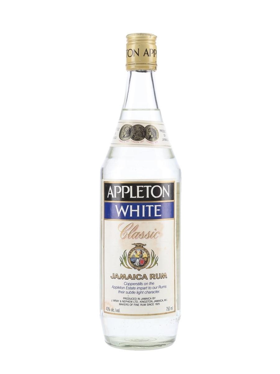 Appleton White Classic Jamaica Rum Bottled 1980s - Wray & Nephew 75cl / 43%