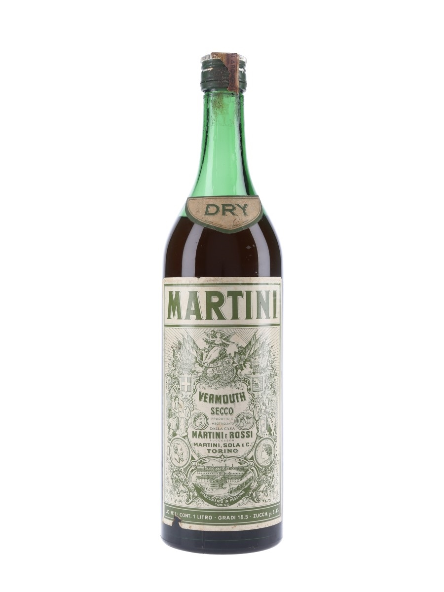 Martini Dry Bottled 1960s 100cl / 18.5%