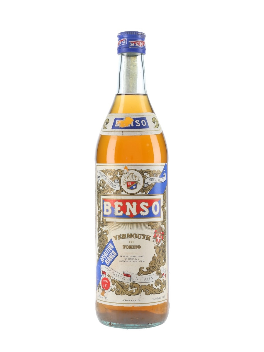 Benso Vermouth Bianco Bottled 1980s 100cl / 16%