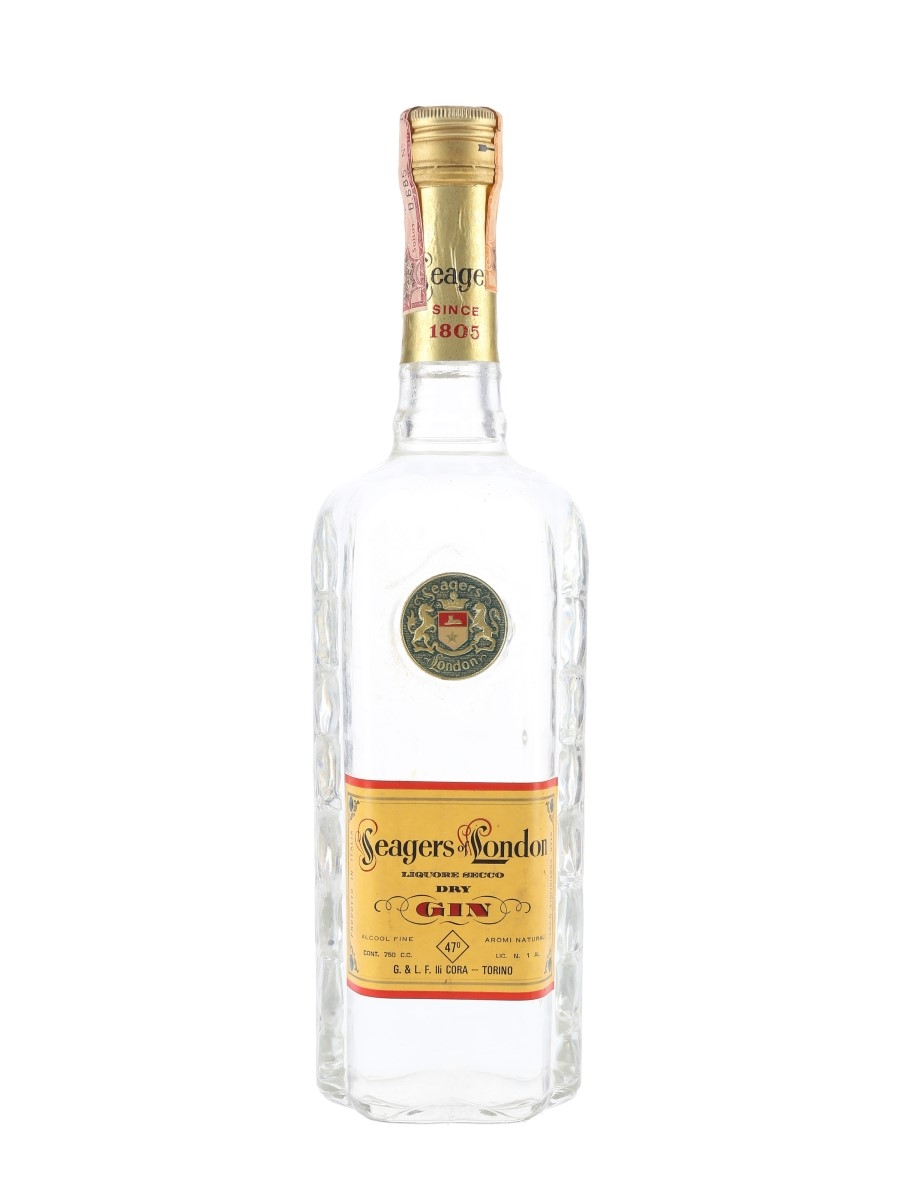 Seagers Of London Dry Gin Bottled 1960s - Cora 75cl / 47%