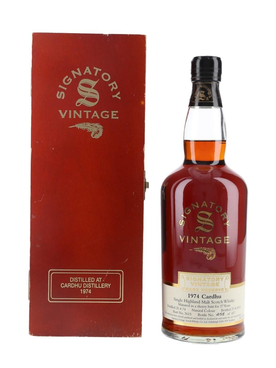 Cardhu 1974 27 Year Old Rare Reserve Bottled 2001 - Signatory Vintage 70cl / 54.1%