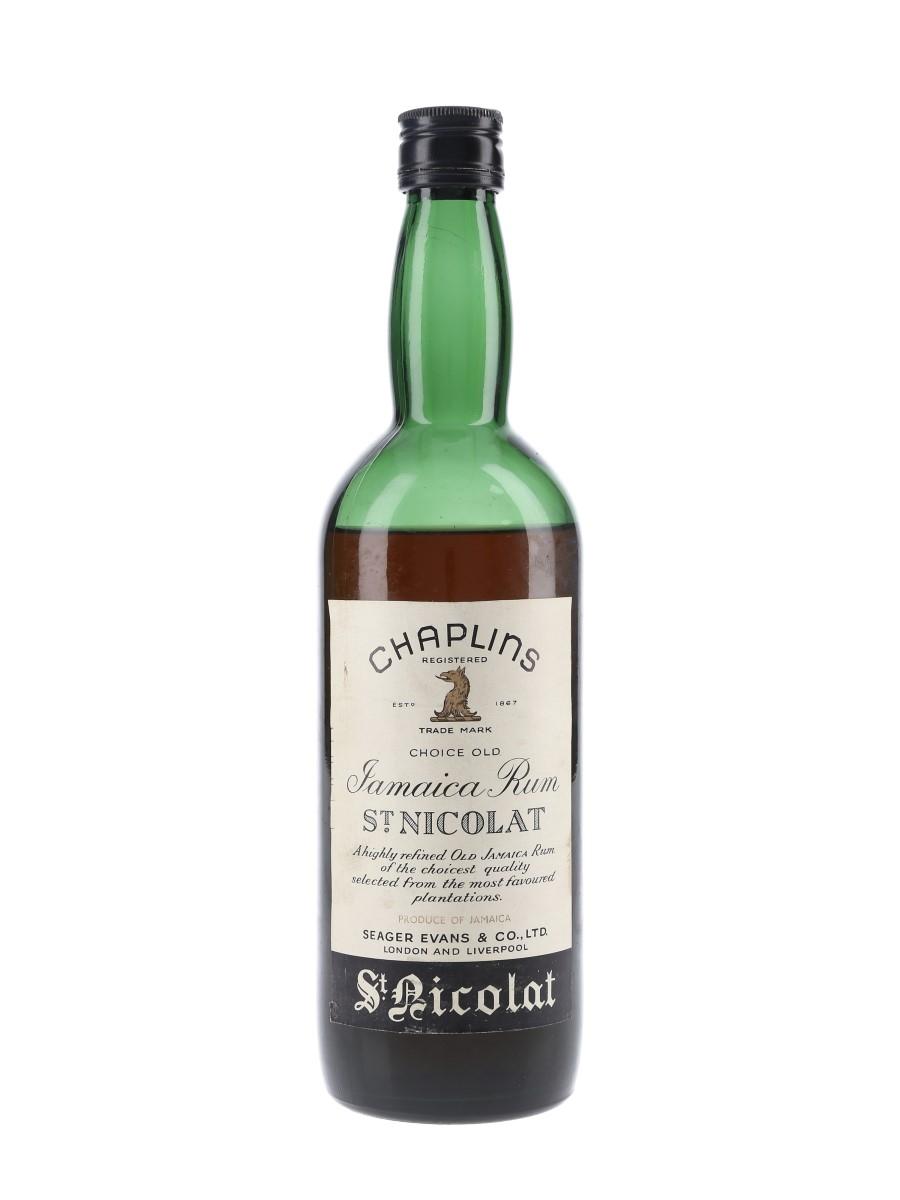 Chaplins St Nicolat Jamaica Rum Bottled 1950s-1960s - Seager Evans & Co. 75cl