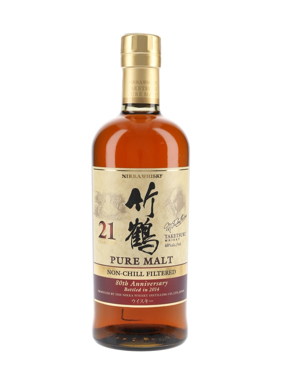 Taketsuru Pure Malt 21 Year Old Bottled 2014 - 80th Anniversary 70cl / 48%