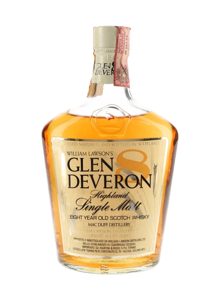Glen Deveron 8 Year Old Bottled 1970s - Martini & Rossi 75cl / 40%