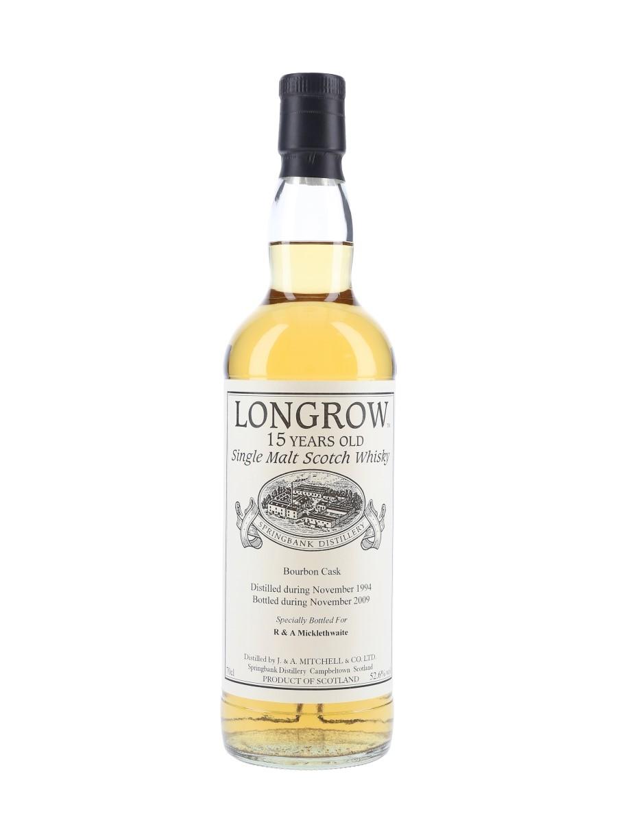 Longrow 1994 15 Year Old Bottled 2009 - Private Cask Bottling 70cl / 52.6%