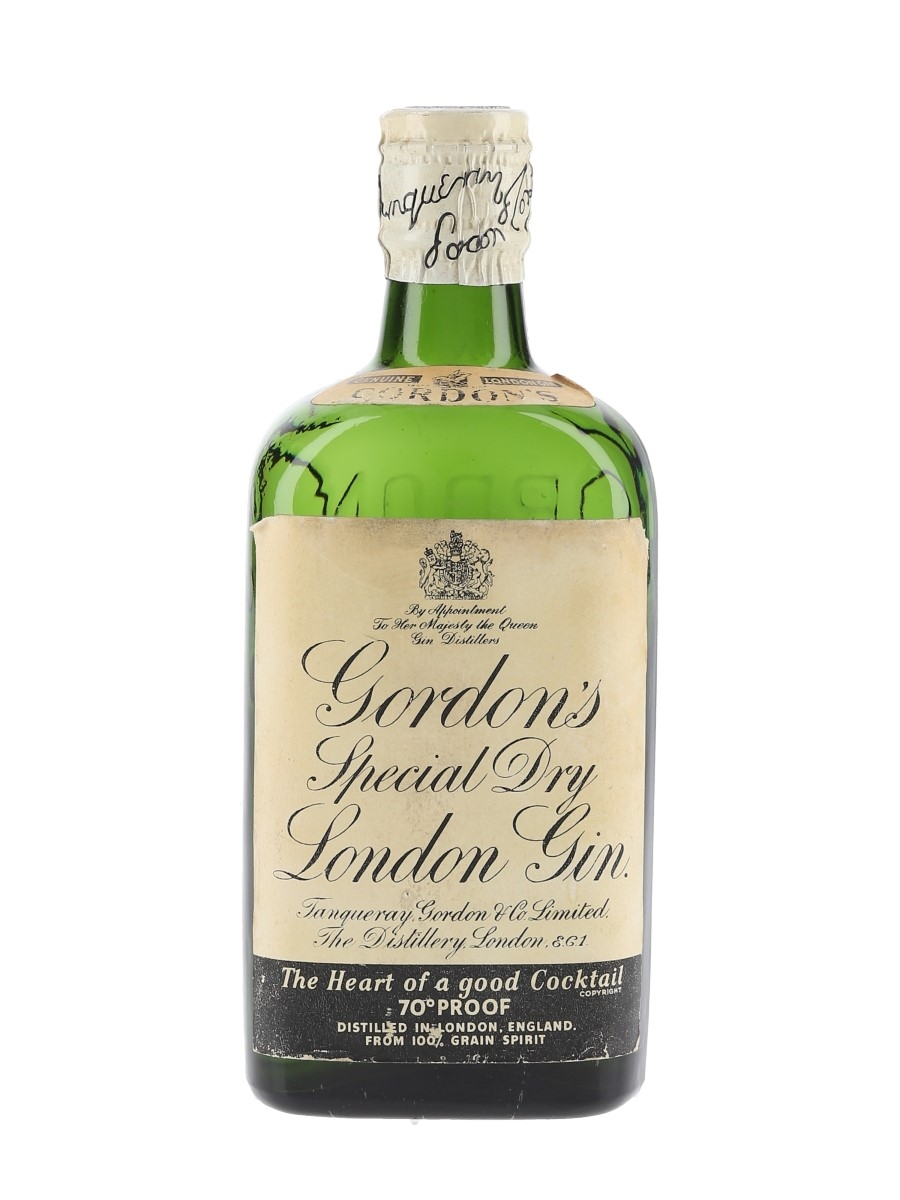 Gordon's Special Dry London Gin Spring Cap Bottled 1950s 37.5cl / 40%