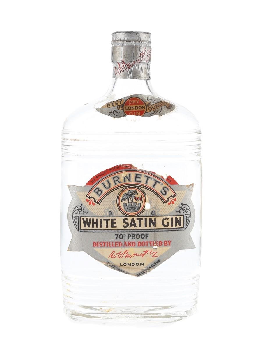 Sir Robert Burnett's White Satin Gin Spring Cap Bottled 1950s 37.5cl / 40%
