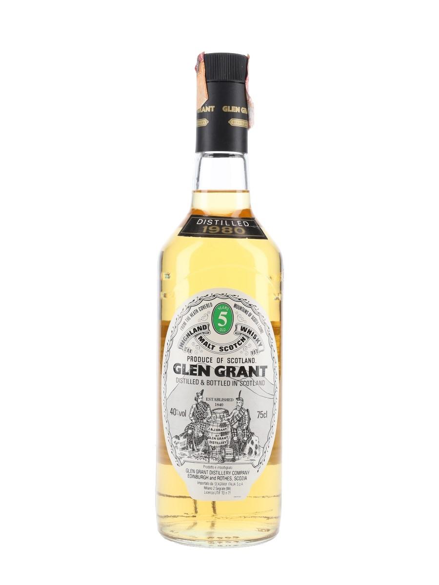 Glen Grant 1980 5 Year Old - Seagram Italia 75cl / 40%