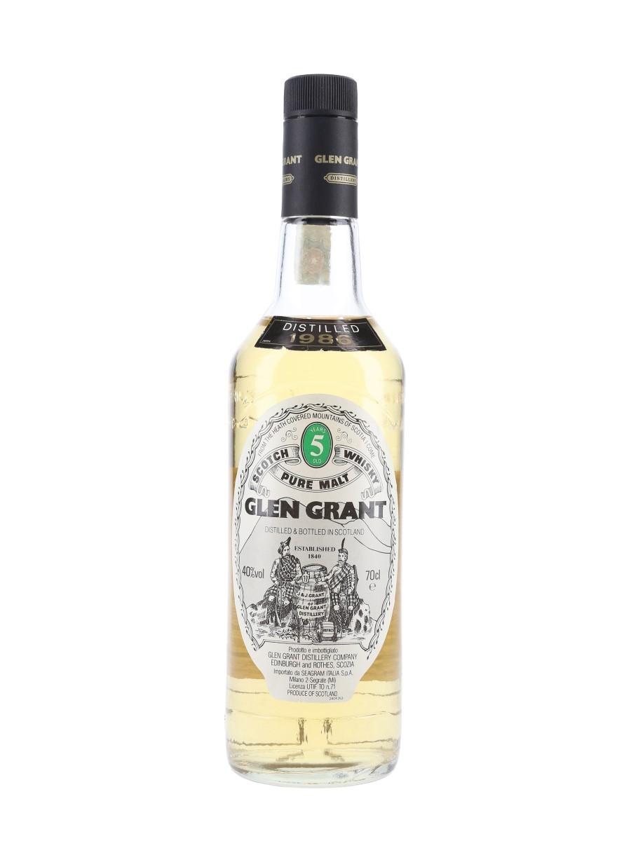 Glen Grant 1986 5 Year Old Seagram Italia 70cl / 40%