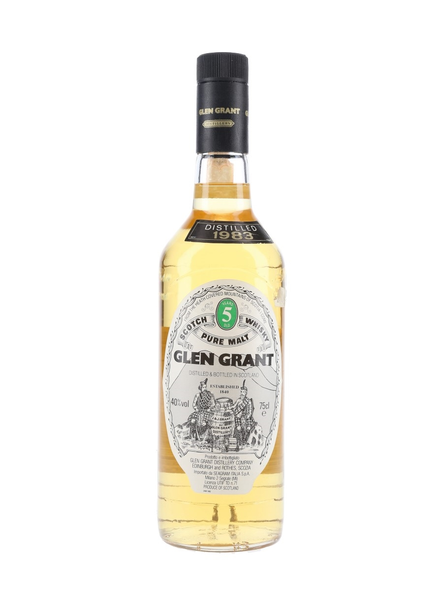 Glen Grant 1983 5 Year Old - Seagram Italia 75cl / 40%