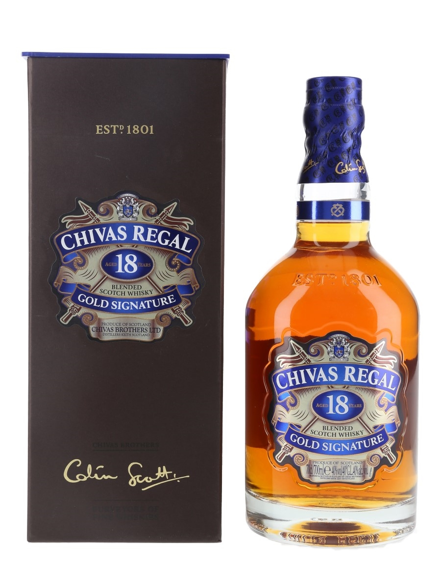 Chivas Regal 18 Year Old Gold Signature Bottled 2017 70cl / 40%