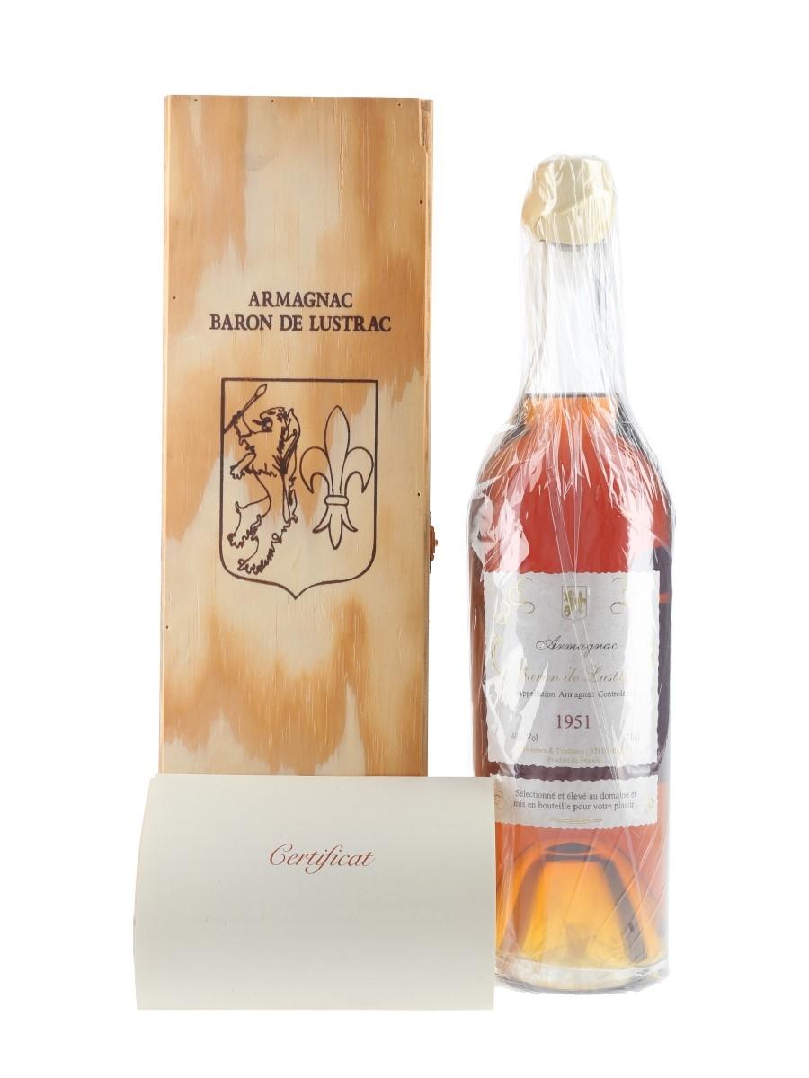 Baron De Lustrac 1951 Bas Armagnac  70cl / 40%