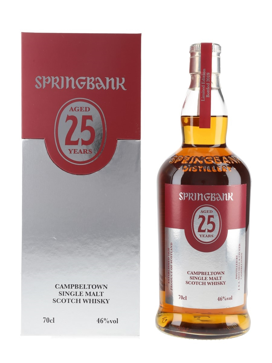 Springbank 25 Year Old Bottled 2019 70cl / 46%