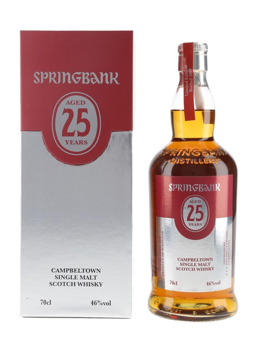 Springbank 25 Year Old Bottled 2018 70cl / 46%