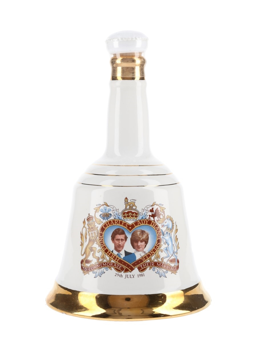 Bell's Ceramic Decanter Royal Wedding 1981 - Prince Charles & Lady Diana Spencer 75cl / 43%