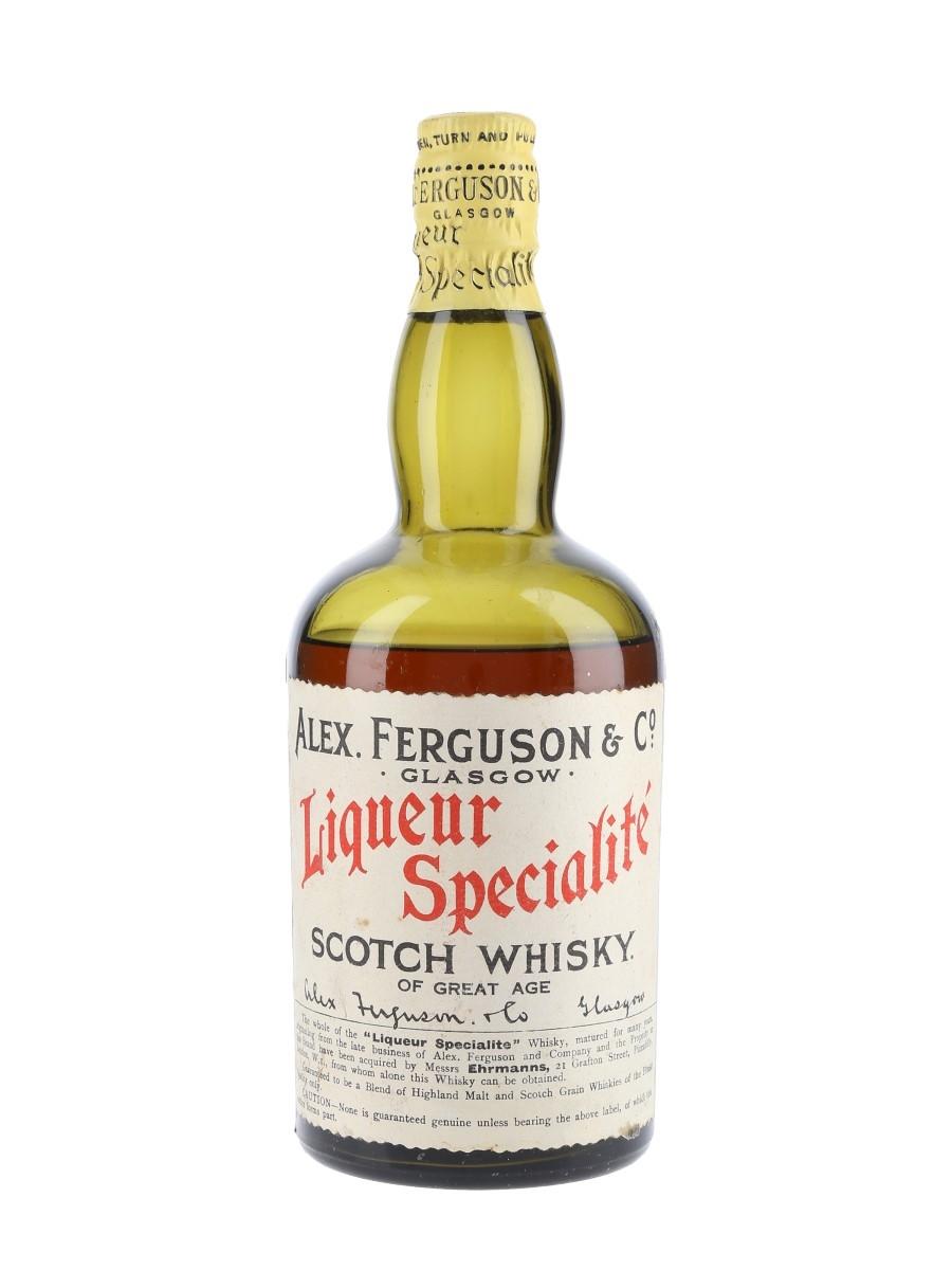 Alex Ferguson & Co Liqueur Specialite Scotch Whisky Bottled 1930s 75cl