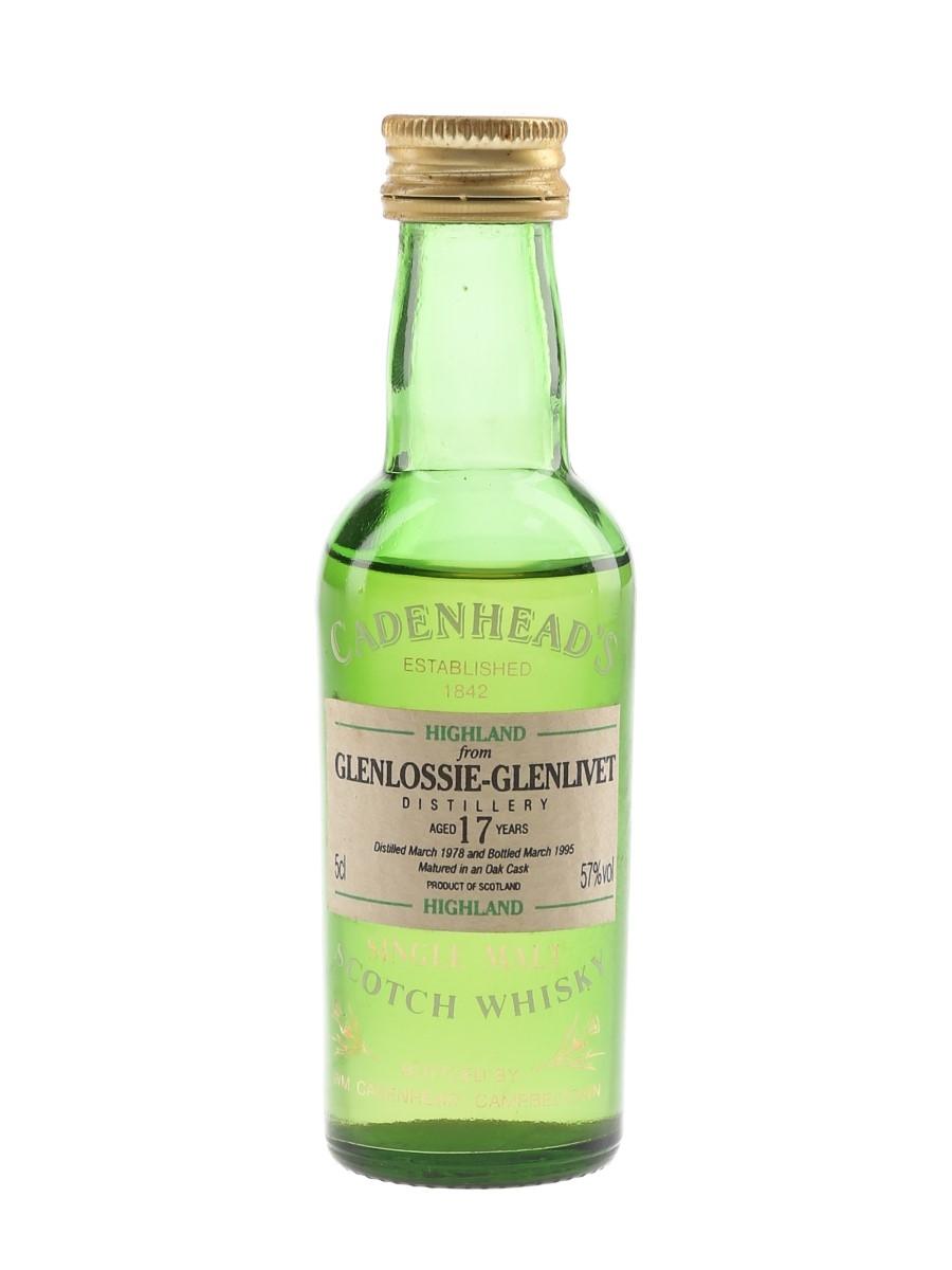 Glenlossie Glenlivet 1978 17 Year Old Bottled 1995 - Cadenhead's 5cl / 57%