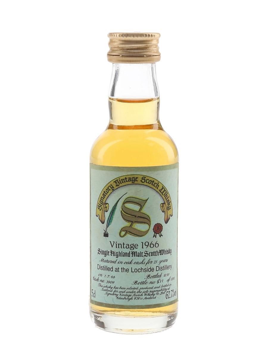 Lochside 1966 25 Year Old Bottled 1991 - Signatory Vintage 5cl / 62.7%