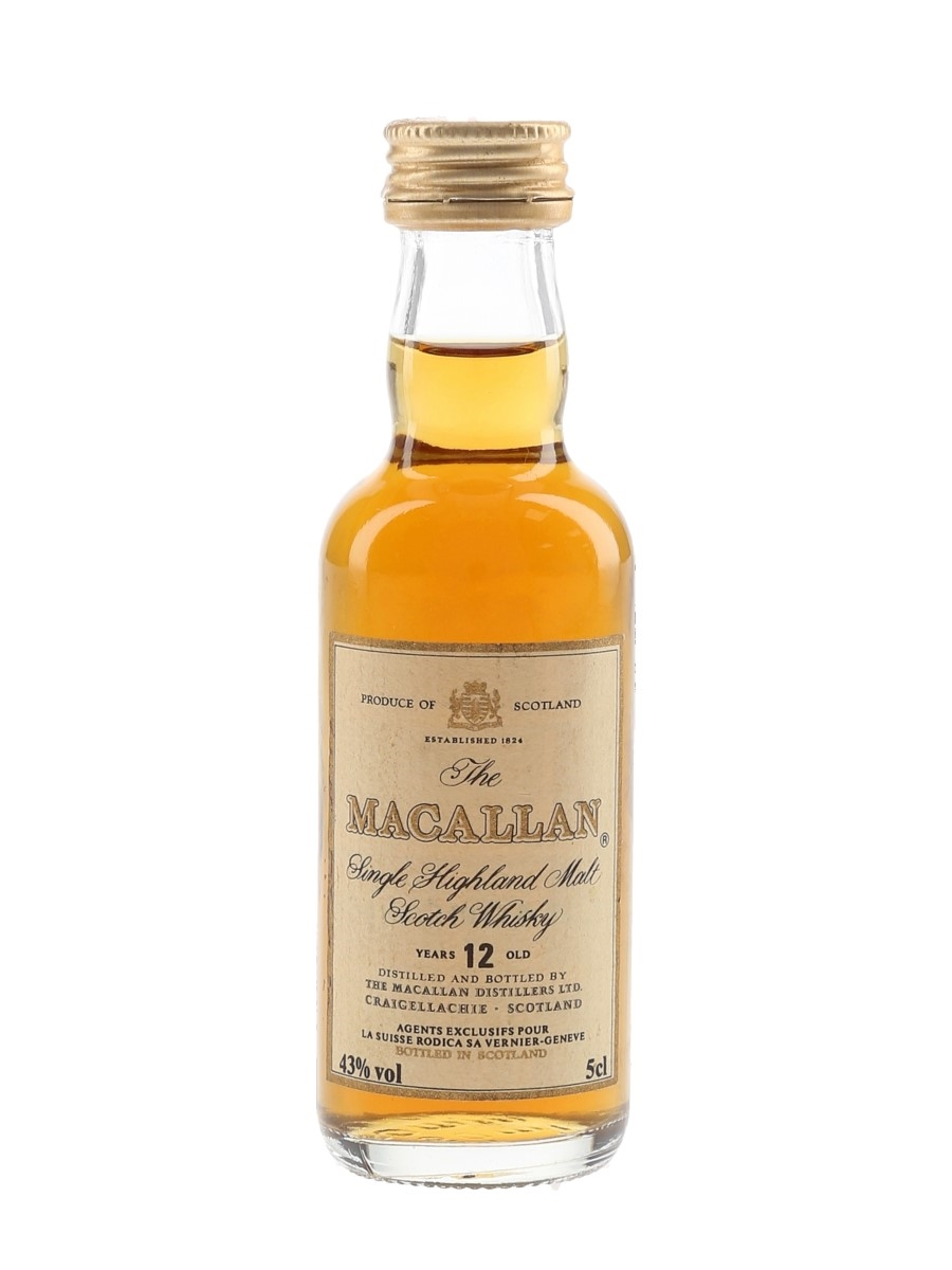 Macallan 12 Year Old Bottled 1980s-1990s - La Suisse Rodica 5cl / 43%