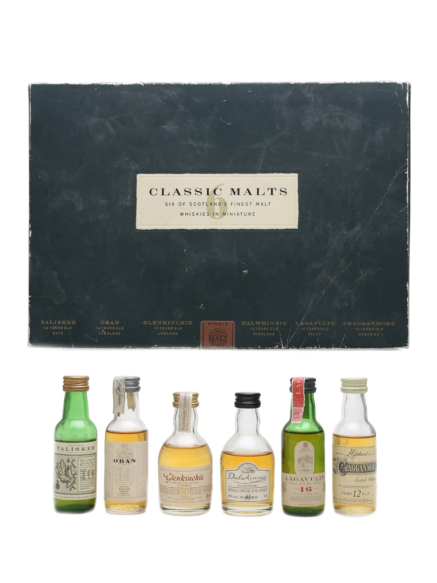 Classic Malts Whisky Miniatures Set United Distillers 6 x 5cl