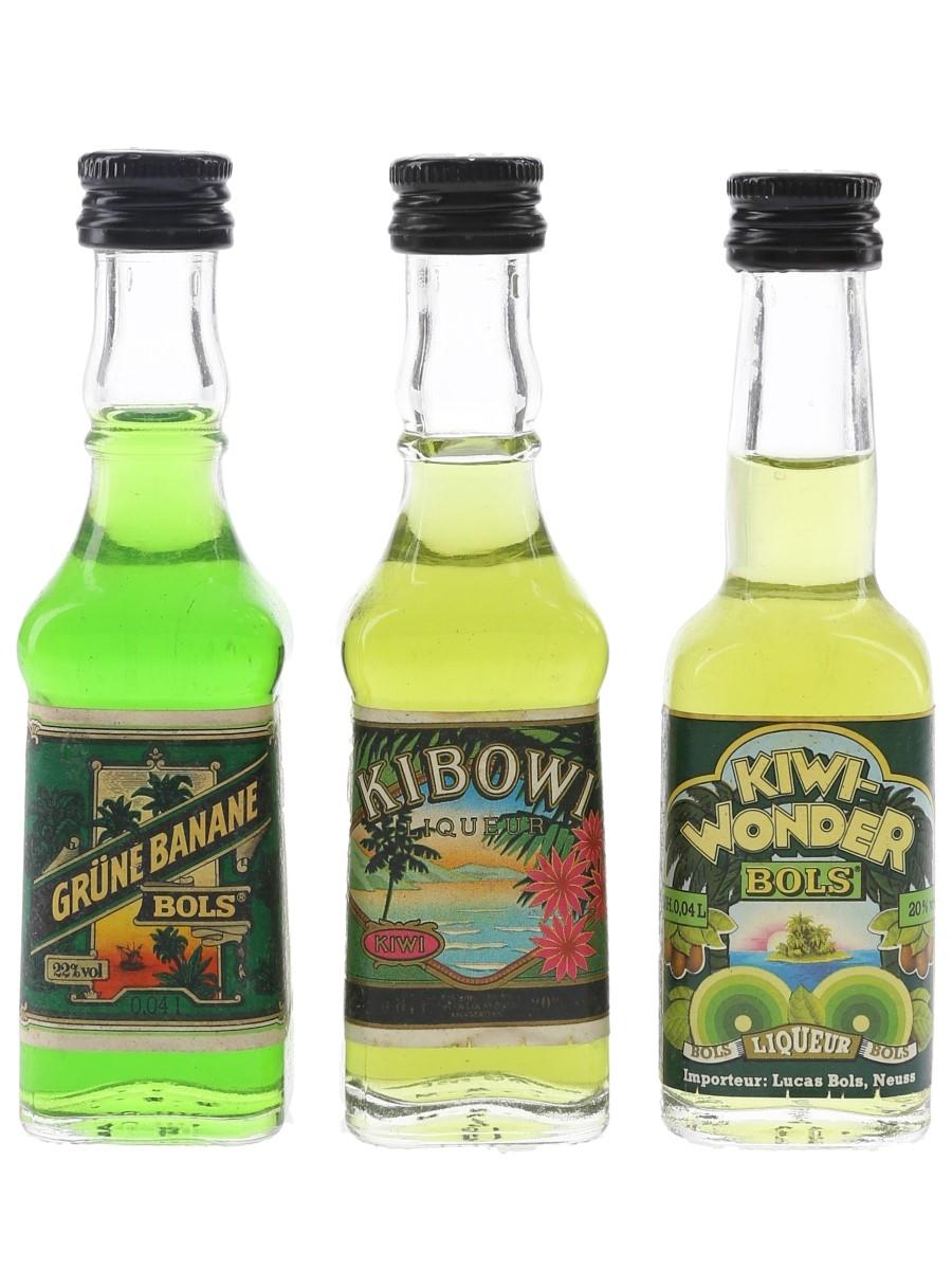 Bols Green Banana & Kiwi Liqueurs  3 x 4cl