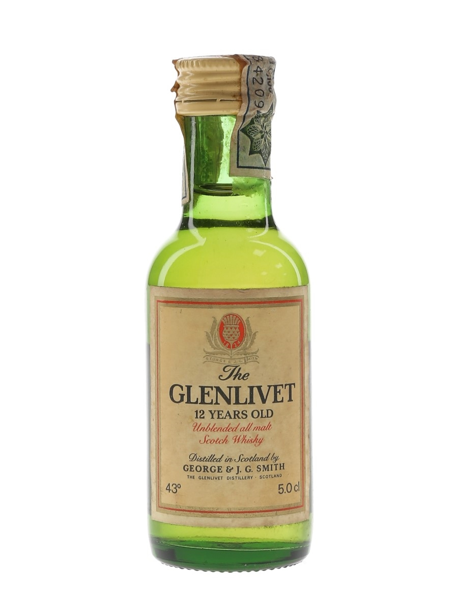 Glenlivet 12 Year Old Bottled 1970s - Seagram Italia 5cl / 43%