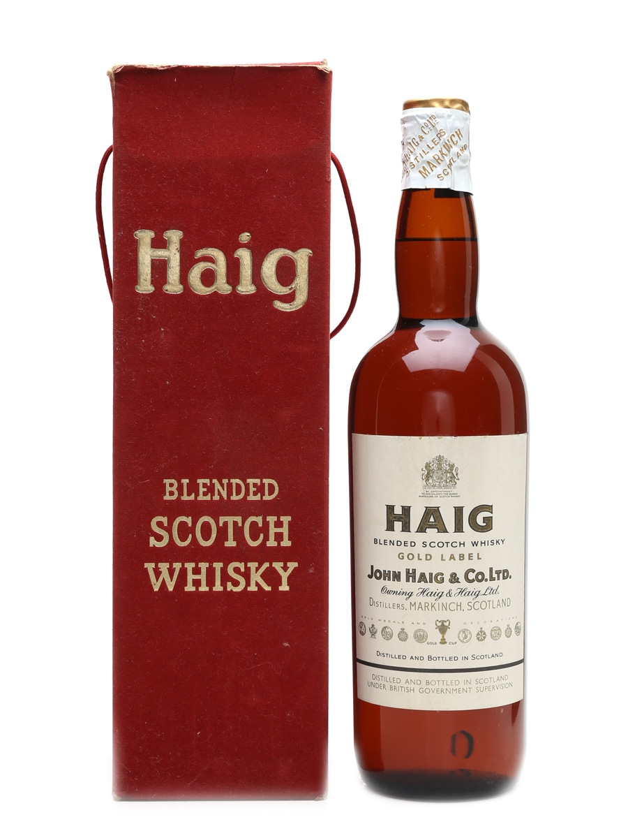 Haig Gold Label Spring Cap Bottled 1950s 75cl