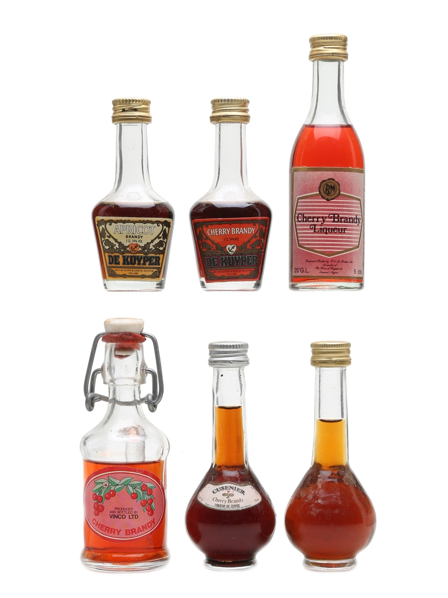 Fruit Brandy Miniatures Incl. De Kuyper & Cusenier 5cl, 4cl & 4 x 3cl