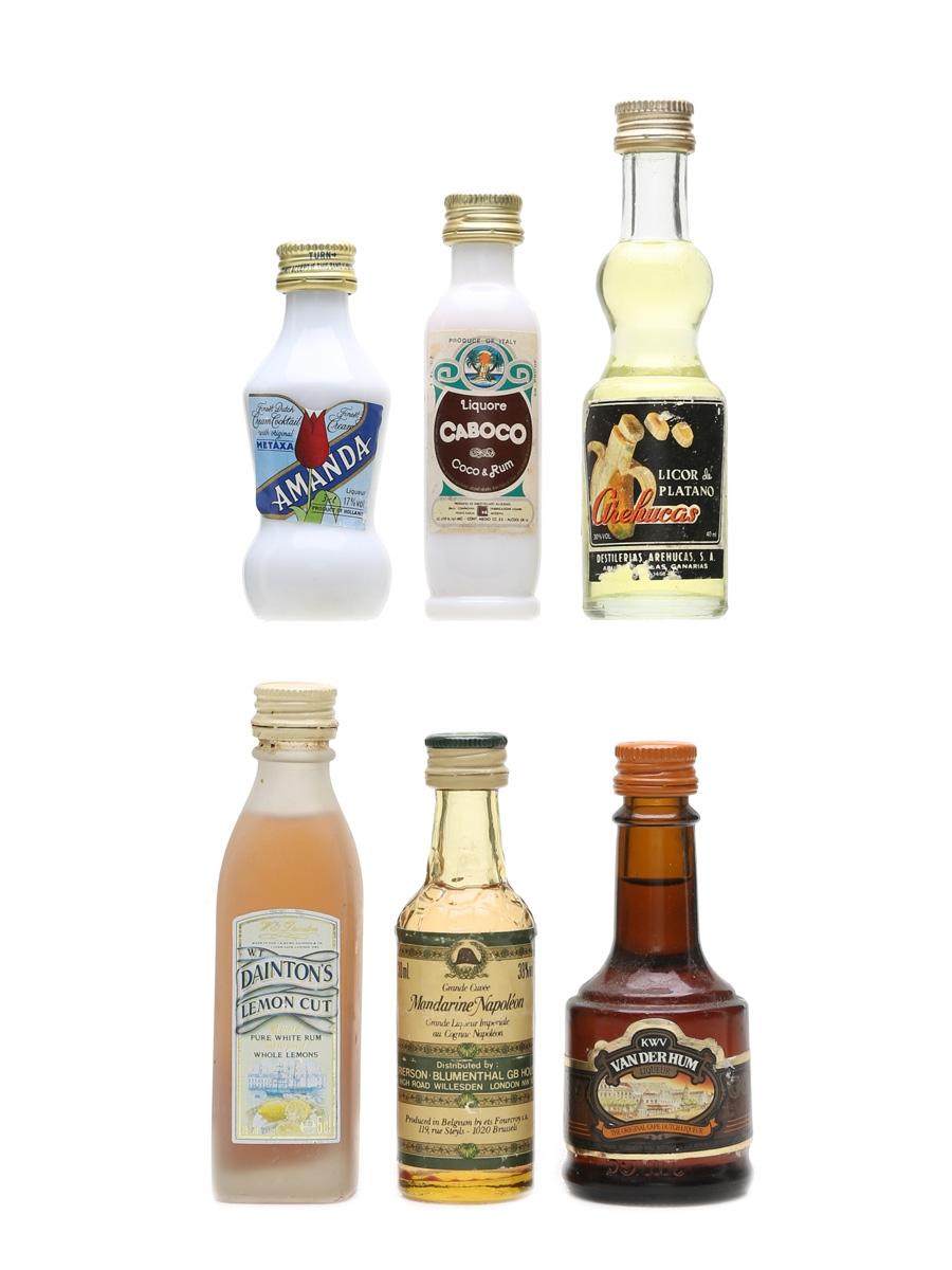 Brandy & Rum Liqueurs Assorted Miniatures 4cl, 3 x 3cl & 2 x 5cl