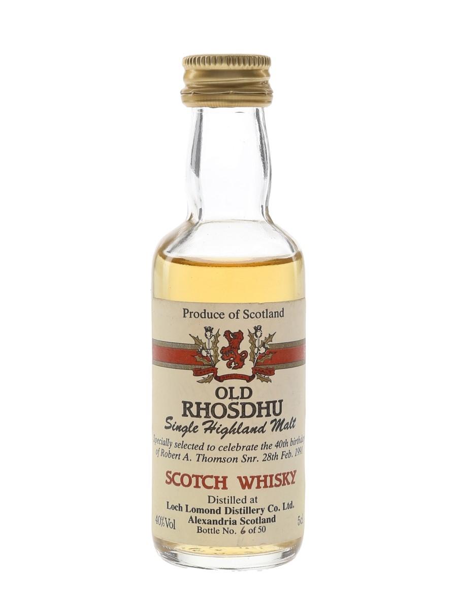 Old Rhosdhu Bottled 1991 - Loch Lomond Distillery 5cl / 40%