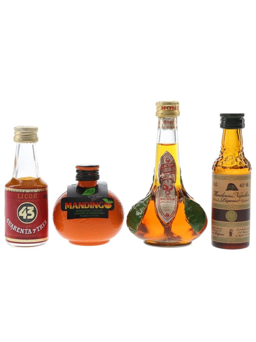 Assorted Liqueurs Cuarenta Y Tres, Mandarine Napoleon, Mandingo & Naranja 4 x 3cl-5.5cl