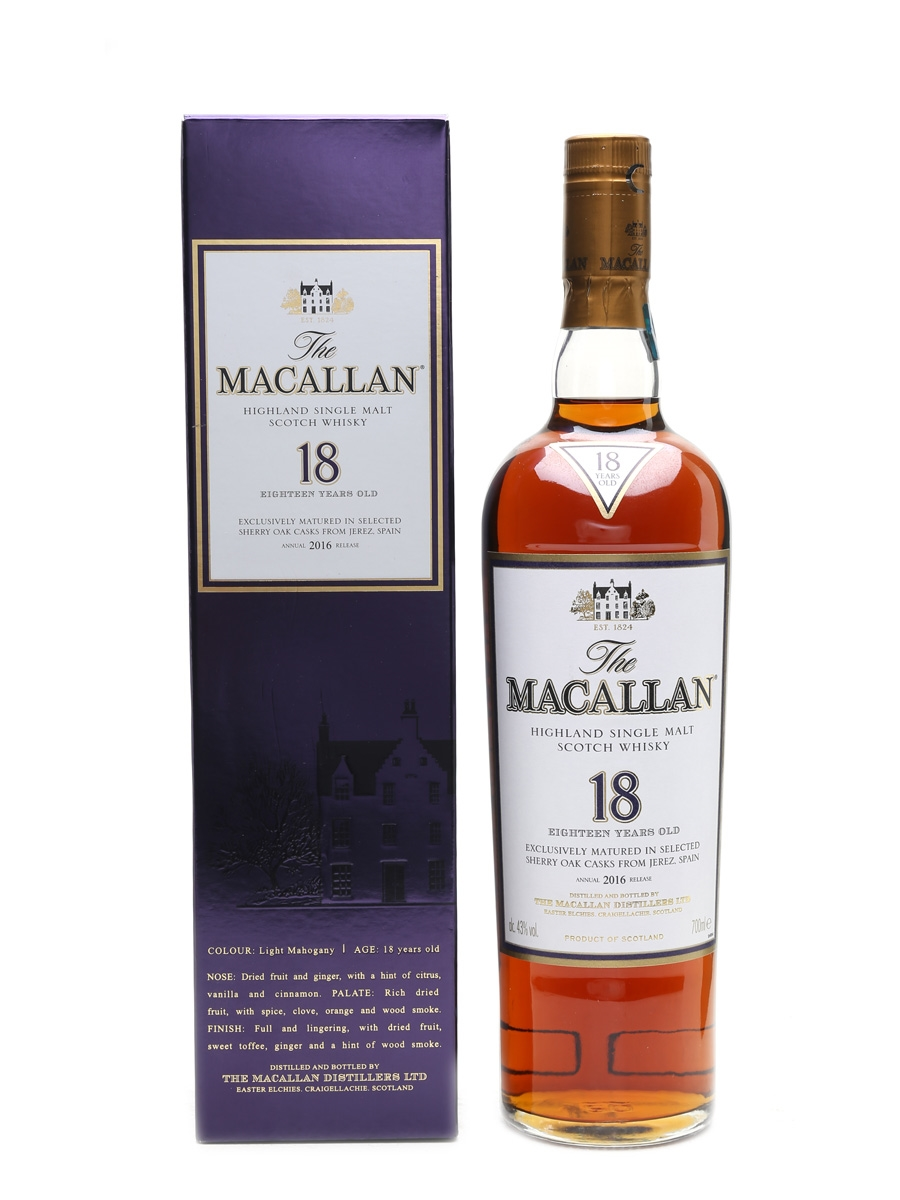 Macallan 18 Year Old 2016 Release 70cl / 43%