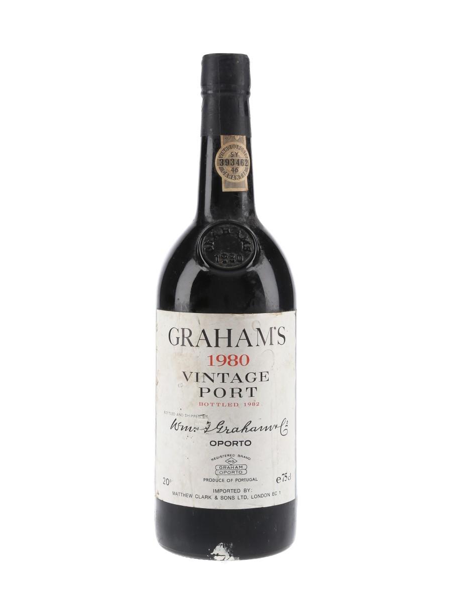 Graham's 1980 Vintage Port Bottled 1982 - Clark 75cl / 20%