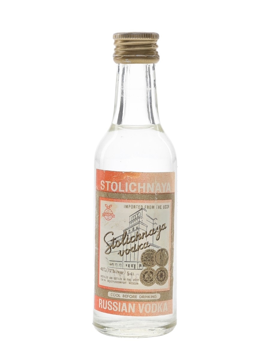 Stolichnaya Russian Vodka Bottled 1970s 5cl / 40%